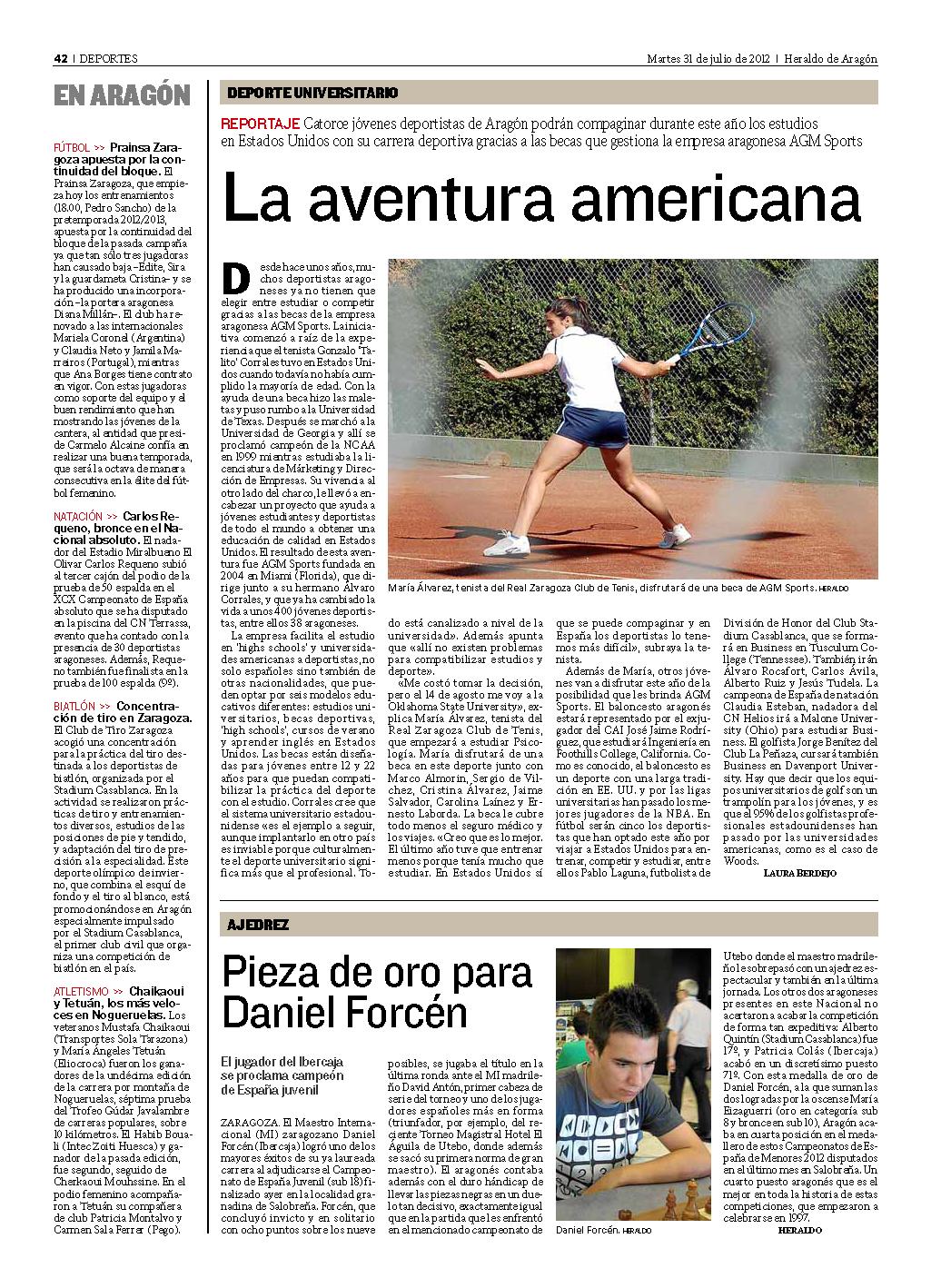14 deportistas aragoneses empiezan la aventura americana