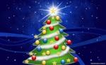 Un bonito arbol de navidad cartoon