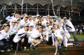 15 DEC 2013:  The University of Notre Dame celebrates winning the Division I Menís Soccer Championship against the University of Maryland held at PPL Park in Philadelphia, PA.  Notre Dame defeated Maryland 2-1 for the national title. Ben Solomon/NCAA Photos